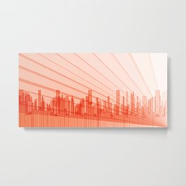 City Abstract Background Metal Print