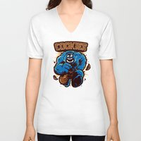 cookies V-neck T-shirts featuring Cookies! by WinterArtwork
