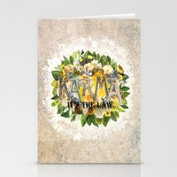karma Stationery Cards featuring Karma by Jenndalyn