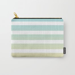 Aqua yellow white lines Carry-All Pouch