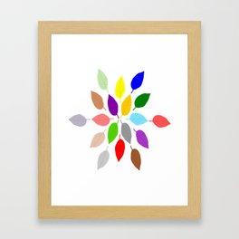 Coloured Leaves Design Framed Art Print