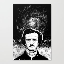 A Portrait of Poe—Into the Maelstrom Canvas Print