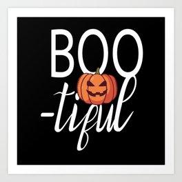 Boo tiful Halloween Beautiful Pumpkin Art Print