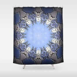 Polished Stone Metal Element Mandala Shower Curtain
