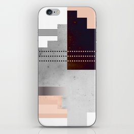 Speckled Polygon Dot Stripe iPhone Skin