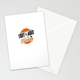 Community Simple Troy & Abed In The Morning Logo Stationery Cards