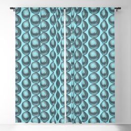 Pastel teal pearls background Blackout Curtain