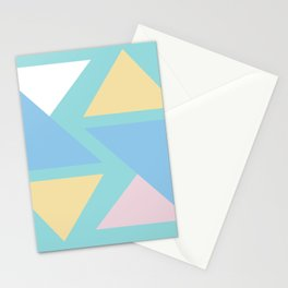 Triangle origami pastel pattern art Stationery Cards