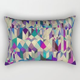 Purple Town Rectangular Pillow