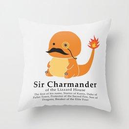 Sir Chamander Throw Pillow