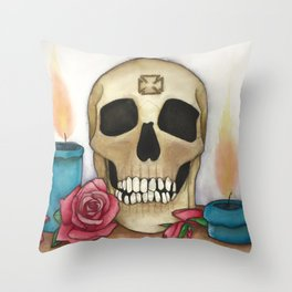 Strengh in Death Throw Pillow