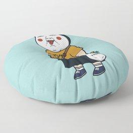 Joyful Girl Floor Pillow