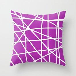 Doodle (White & Purple) Throw Pillow
