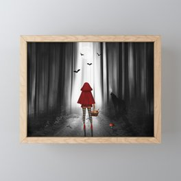 Little Red Riding Hood and the wolf Framed Mini Art Print