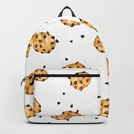 Modern chocolate chips cookies watercolor pattern Backpack