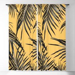 Black Palm Leaves Dream #6 #tropical #decor #art #society6 Blackout Curtain