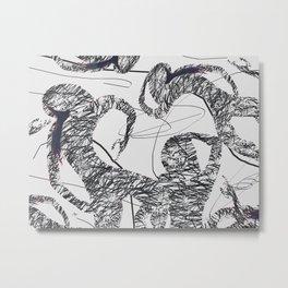 Calligraphy Dance Metal Print