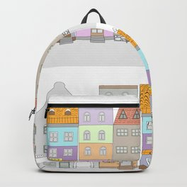 cartoon old city Backpack