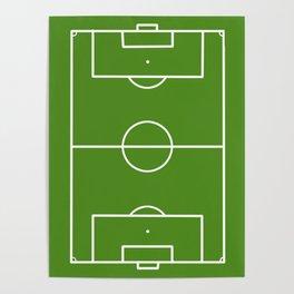 Football field fun design soccer field Poster