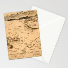 Map of Athens 1832 Stationery Cards