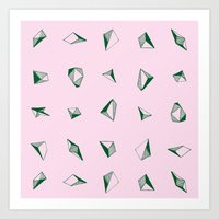 diamonds Art Prints featuring DIAMONDS by ZARYA
