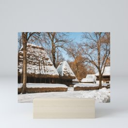 Season Greetings from a picturesque Romanian Village Mini Art Print