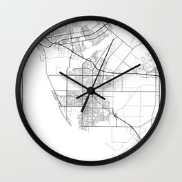 Minimal City Maps - Map Of Oxnard, California, United States Wall Clock