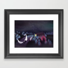 Gravity (Moon in the River) Framed Art Print