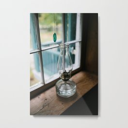 Leave a Light on When I'm Gone Metal Print