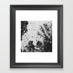 Rain water droplets on windscreen Framed Art Print