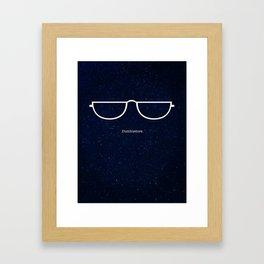 Half Moon Specs Framed Art Print