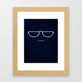 Half Moon Specs Framed Art Print