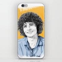tim shumate iPhone & iPod Skins featuring Tim Buckley by Daniel Cash