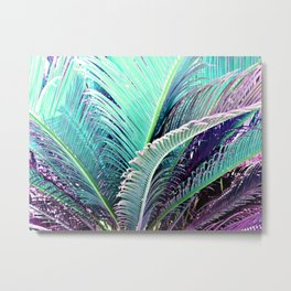 Palms (Teal and purple) Metal Print