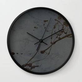 Black And Gray Abstract Jackson Pollock Inspired Study In Black - Gothic Glam - Corbin Henry Wall Clock