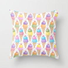 Crayon - IceCream Throw Pillow