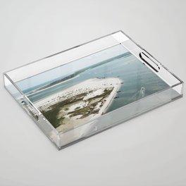Lea-Hutaff Island | Rich's Inlet | North End of Figure 8 Island | Wilmington NC Acrylic Tray
