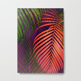 COLORFUL TROPICAL LEAVES no1 Metal Print