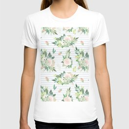 succulent, floral, leaf T-shirt