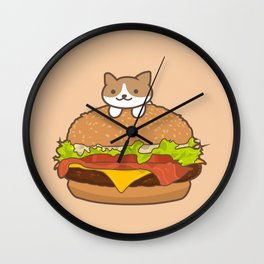 Neko Burger Wall Clock