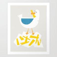 Hungry Seagull Art Print