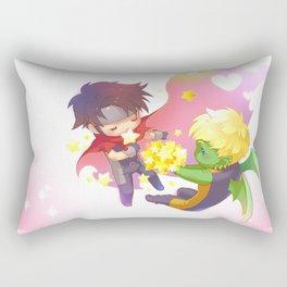 teddy billy - love stars Rectangular Pillow