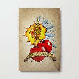 Cherry Bomb - Tattoo Art Metal Print