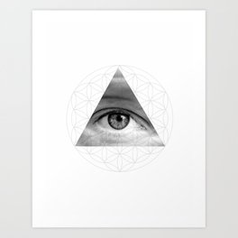 The All Seeing Eye of Life Art Print