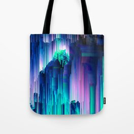 Glitches Be Trippin' - Abstract Pixel Art Tote Bag