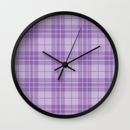 Amethyst Plaid Wall Clock