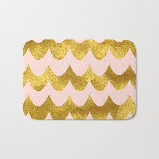 Pink Gold Foil 04 Bath Mat