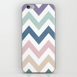 MUTED CHEVRON {COOL TONES} iPhone Skin