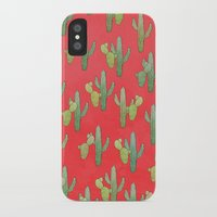 cacti iPhone & iPod Cases featuring Cacti by Megan Dignan