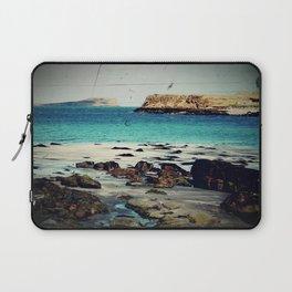 Dinosaur Beach - Retro look fine art canvas print Laptop Sleeve